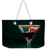 Bloody Eyeball In Martini Glass Weekender Tote Bag by Edward Fielding