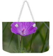 Bloody Geranium Wild Flower Weekender Tote Bag