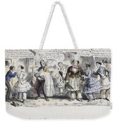 Bloomer Cartoon, C1851 Weekender Tote Bag