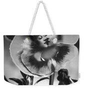 Bloomin' Kiss Vintage Art Bw Weekender Tote Bag