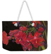 Bloomin' Red Weekender Tote Bag