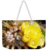 Blooming Barrel Cactus Weekender Tote Bag
