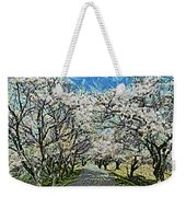 Blooming Cherry Tree Avenue Weekender Tote Bag