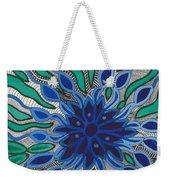 Blooming In Blue Weekender Tote Bag