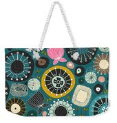 Blooms Teal Weekender Tote Bag