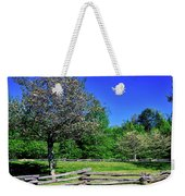 Blossom Trees In Farm, Davidson River Weekender Tote Bag