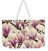 Blossoming Of Magnolia Flowers In Spring Time Weekender Tote Bag