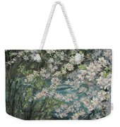 Blossoming River Weekender Tote Bag