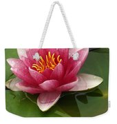 Blossoming Waterlily Weekender Tote Bag