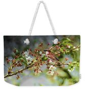 Blossoms And Sparrow Weekender Tote Bag
