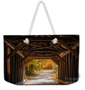 Blow-me-down Covered Bridge Cornish New Hampshire Weekender Tote Bag by Edward Fielding