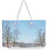 Blowing Snow Weekender Tote Bag