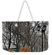 Blowing Snow Weekender Tote Bag