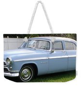 Blue 1955-56 Chrysler Weekender Tote Bag