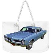 Blue 1966 Pointiac Lemans Weekender Tote Bag