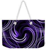 Blue 3d Swirls Weekender Tote Bag