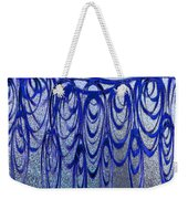 Blue And Black Swirl Abstract Weekender Tote Bag