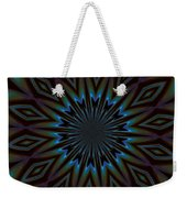 Blue And Brown Floral Abstract Weekender Tote Bag