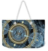 Blue And Gold Mechanical Abstract Weekender Tote Bag