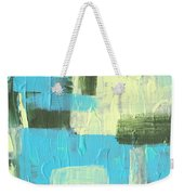 Blue And Green Abstract Weekender Tote Bag