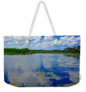 Blue And Green Cay Weekender Tote Bag