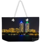 Blue And Green Diamond Twin Towers Weekender Tote Bag