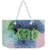 Blue And Green Flowers Weekender Tote Bag