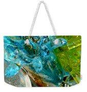 Blue And Green Glass Abstract Weekender Tote Bag
