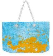 Blue And Orange Wall Texture Weekender Tote Bag