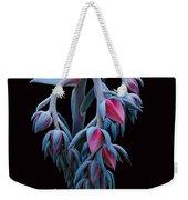 Blue And Pink Succulent Weekender Tote Bag