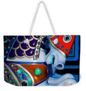 Blue And Red Carousel Horse Weekender Tote Bag
