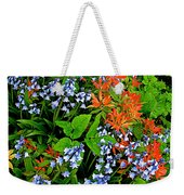 Blue And Red Flowers In Kuekenhof Flower Park-netherlands Weekender Tote Bag