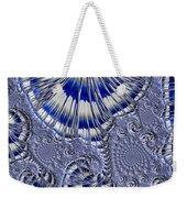 Blue And Silver 1 Weekender Tote Bag