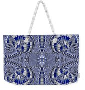 Blue And Silver 2 Weekender Tote Bag