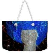 Blue And Silver Girl Weekender Tote Bag