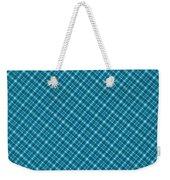 Blue And Teal Diagonal Plaid Pattern Textile Background Weekender Tote Bag