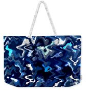 Blue And Turquoise Abstract Weekender Tote Bag