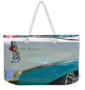 Blue And White Bel Air Convertable Weekender Tote Bag