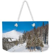 Blue And White Colorado Winter Weekender Tote Bag