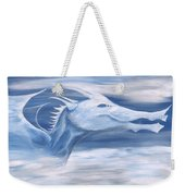 Blue And White Dragon Weekender Tote Bag