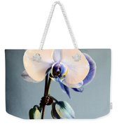 Blue And White Orchids Weekender Tote Bag
