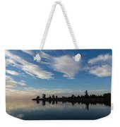 Brushstrokes On The Sky - Blue And White Serenity Weekender Tote Bag