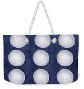 Blue And White Shibori Balls Weekender Tote Bag