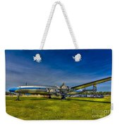 Blue And Yellow Connie Weekender Tote Bag by Marvin Spates
