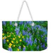 Blue And Yellow Hillside Weekender Tote Bag