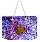 Blue Aster Miniature Painting Weekender Tote Bag