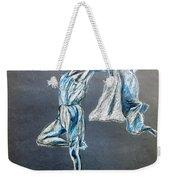 Blue Ballerina Dance Art Weekender Tote Bag
