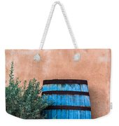 Blue Barrel With Adobe Weekender Tote Bag