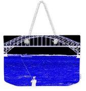 Blue Bay Bridge Weekender Tote Bag