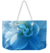 Blue Begonia Flower Weekender Tote Bag by Jennie Marie Schell